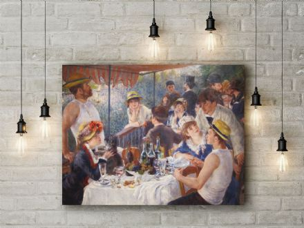 Pierre Auguste Renoir: The Luncheon of the Boating Party. Fine Art Canvas.
